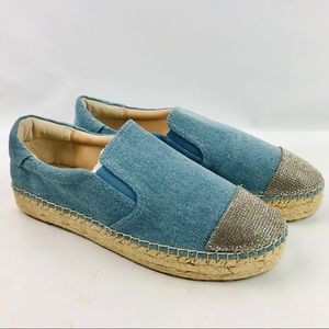 Kendall + Kylie Joss Espadrilles Denim/Silvr Shoes